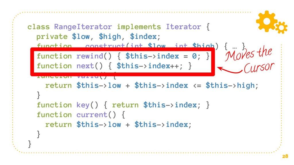 28 class RangeIterator implements Iterator { pr...