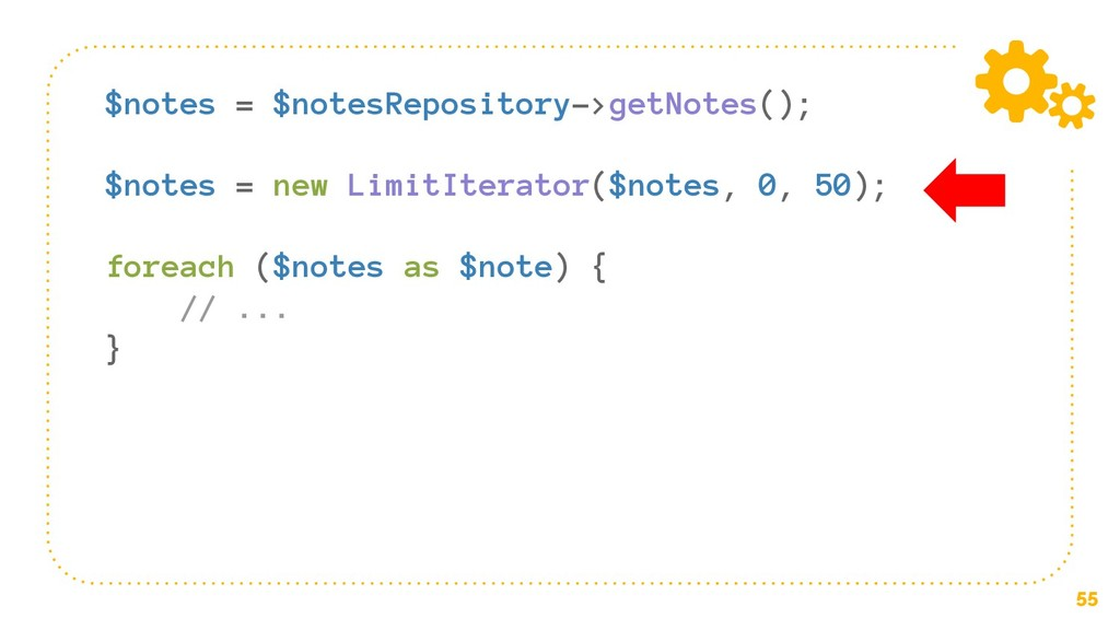 55 $notes = $notesRepository->getNotes(); $note...