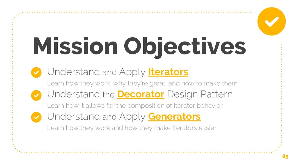 Mission Objectives ★ Understand and Apply Itera...