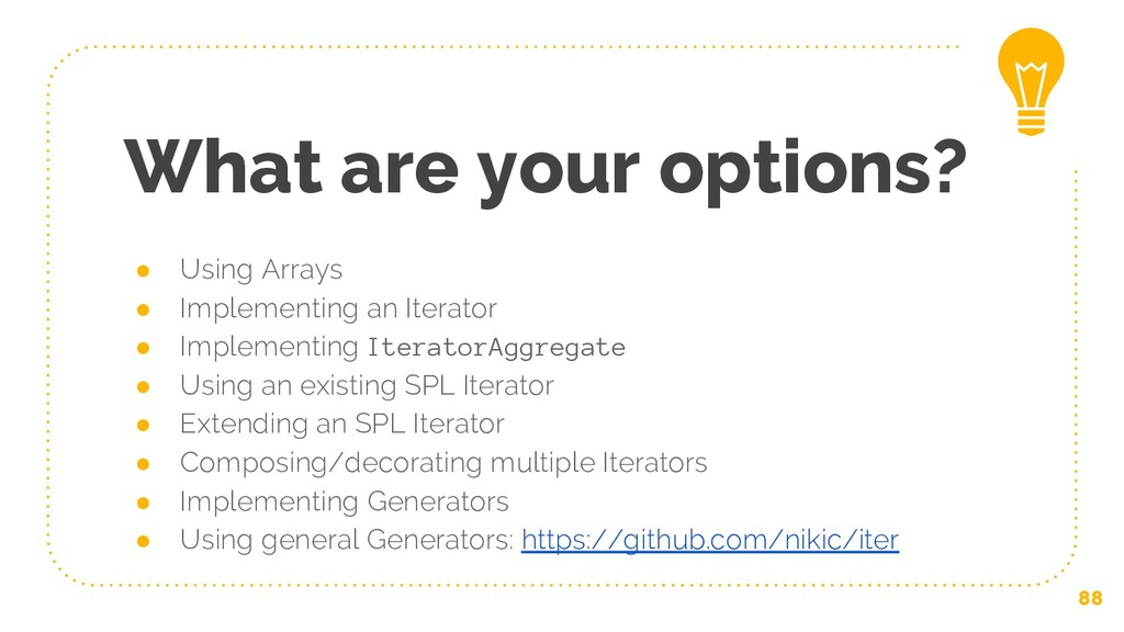 ● Using Arrays ● Implementing an Iterator ● Imp...
