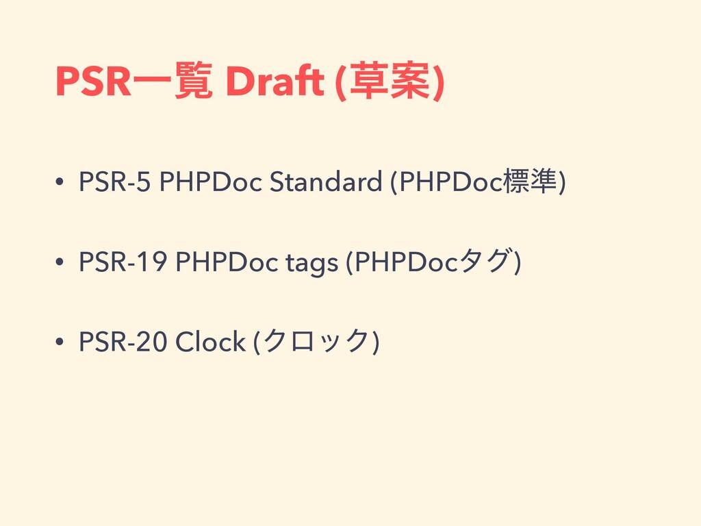 PSRҰཡ Draft (Ҋ) • PSR-5 PHPDoc Standard (PHPDo...
