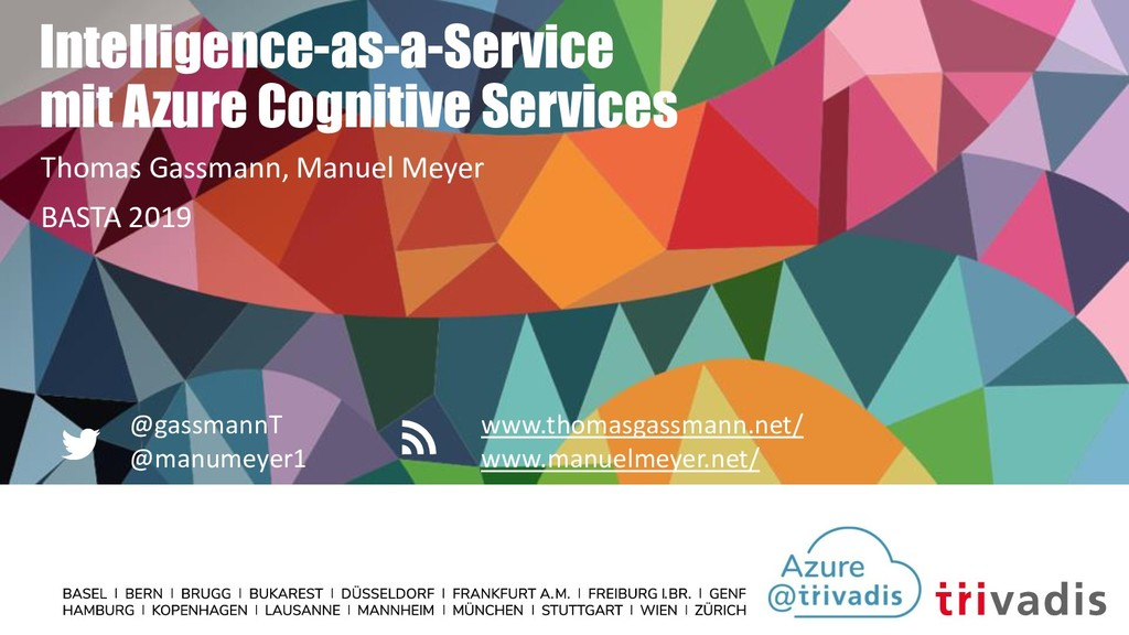 Intelligence-as-a-Service mit Azure Cognitive S...