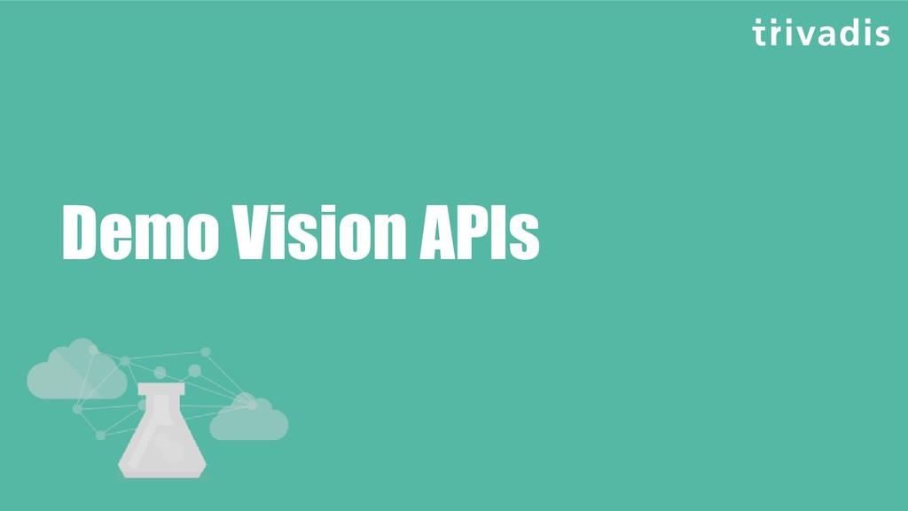 Demo Vision APIs