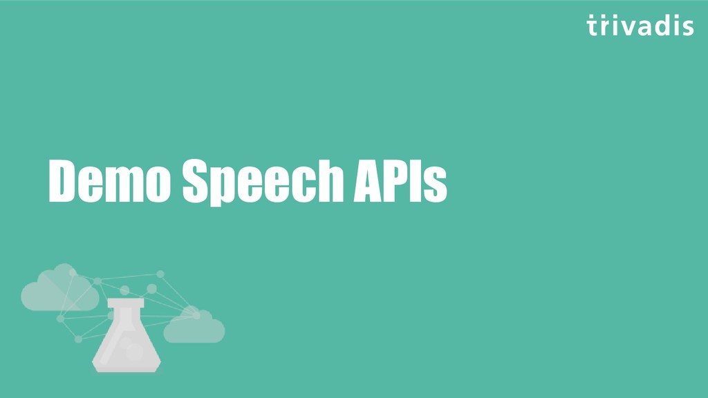 Demo Speech APIs