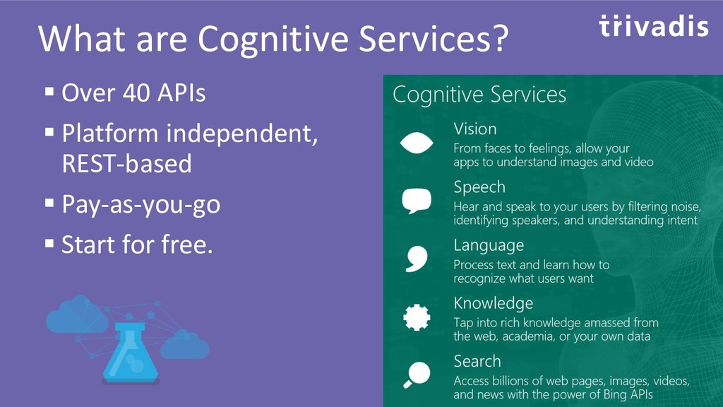 What are Cognitive Services? ▪ Over 40 APIs ▪ P...