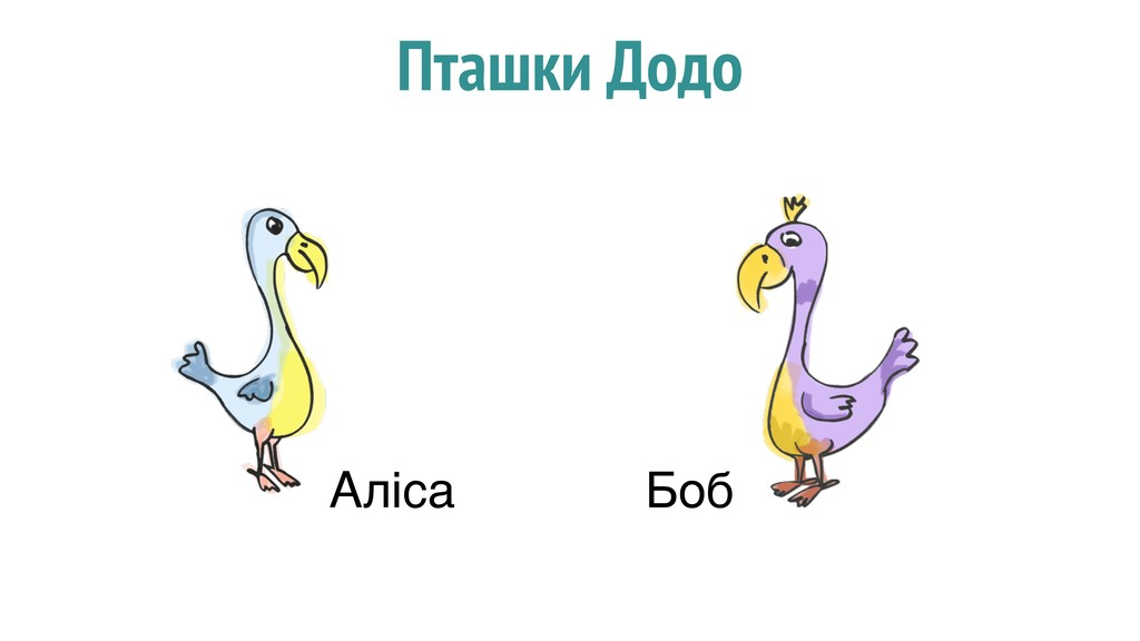 Пташки Додо Аліса Боб