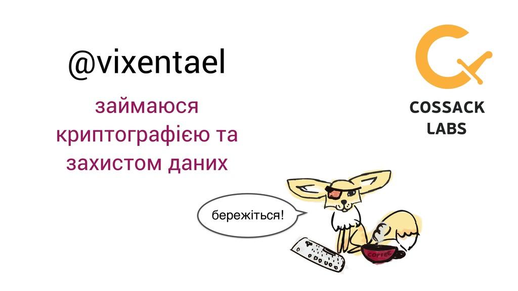 @vixentael займаюся криптографією та захистом д...
