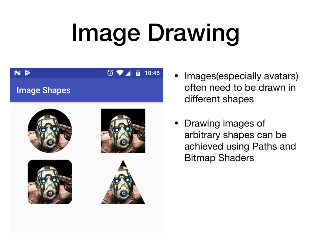 Image Drawing • Images(especially avatars) ofte...