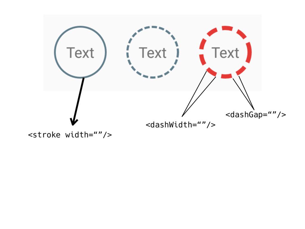 "<stroke width=""""/> <dashWidth=""""/> <dashGap=""""/>"