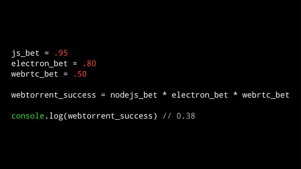 js_bet = .95 electron_bet = .80 webrtc_bet = .5...