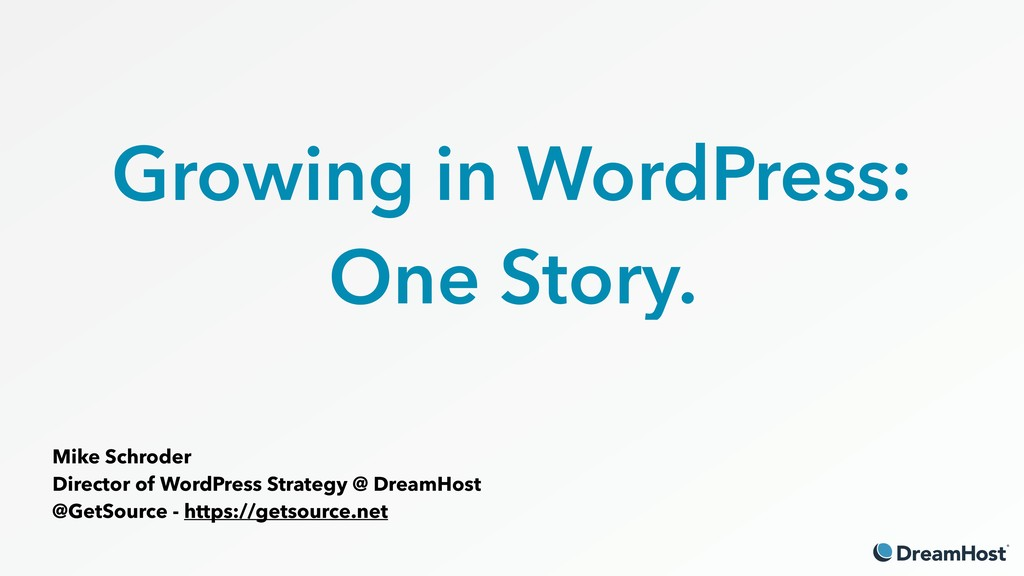 Growing in WordPress: