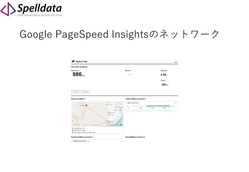 Google PageSpeed Insightsのネットワーク