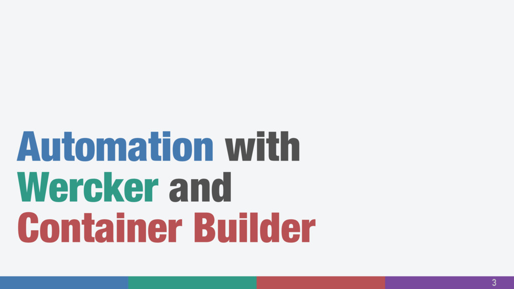 Automation with Wercker and Container Builder 3