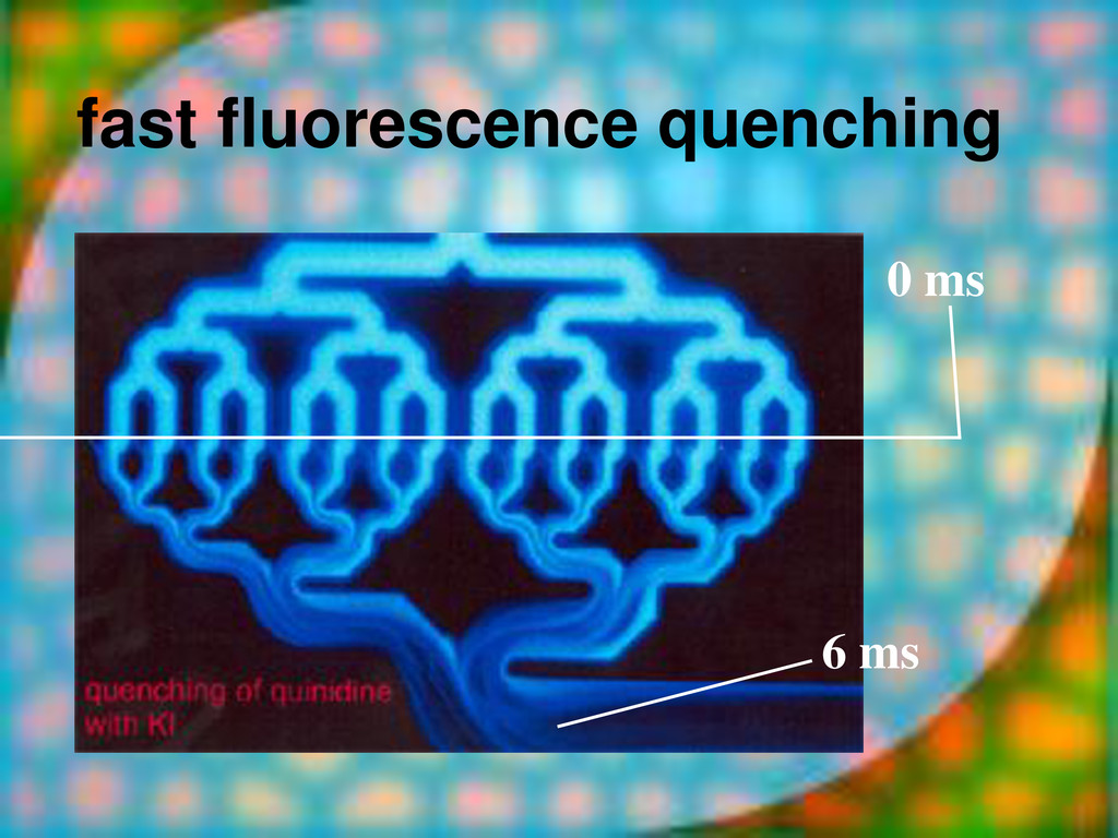 fast fluorescence quenching 0 ms 6 ms