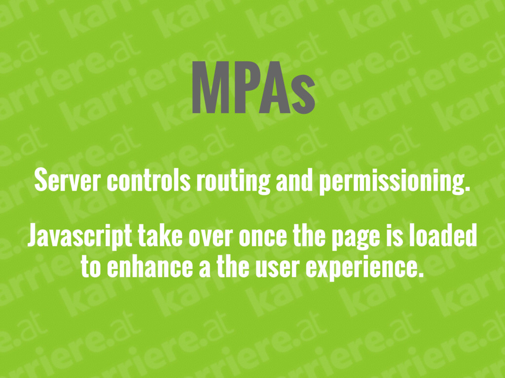 MPAs Server controls routing and permissioning....