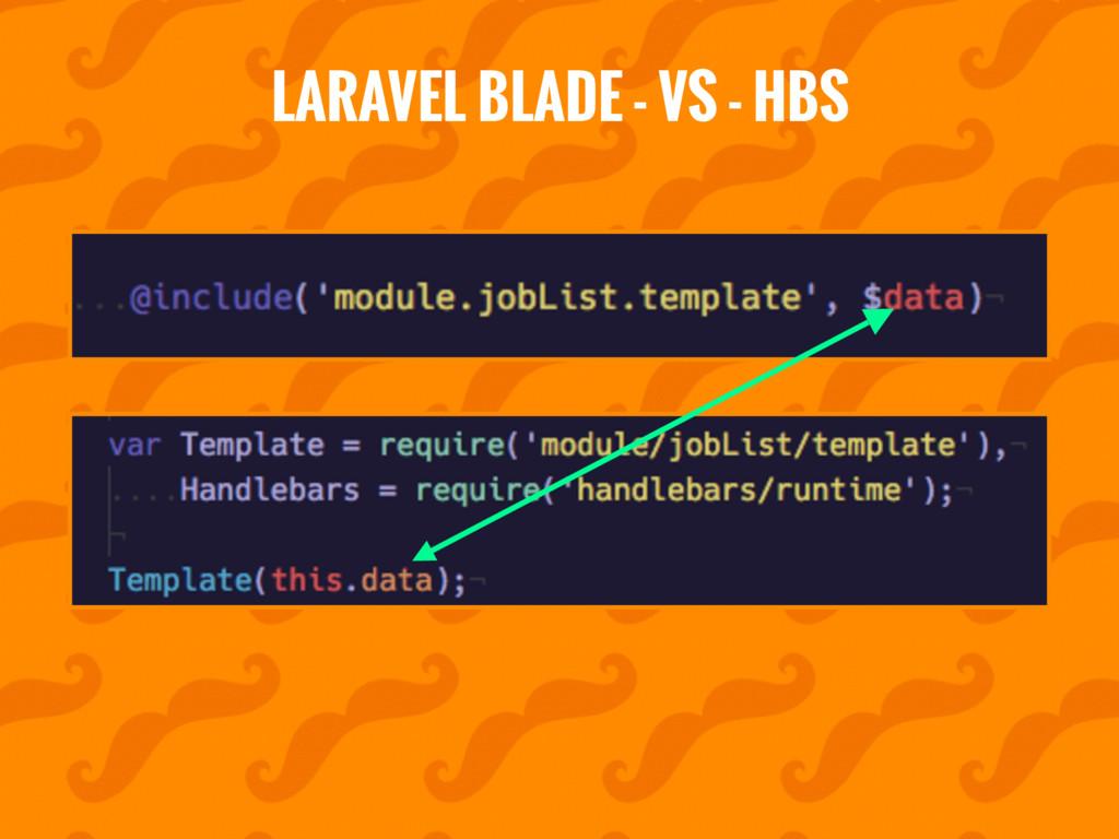 LARAVEL BLADE - VS - HBS
