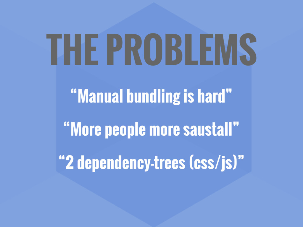 "THE PROBLEMS ""Manual bundling is hard"" ""More pe..."