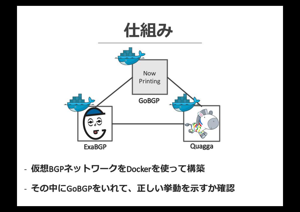 Now Printing 仕組み -‐ 仮想BGPネットワークをDockerを使って構築 -...