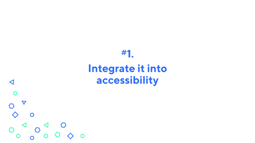 Integrate it into accessibility #1.