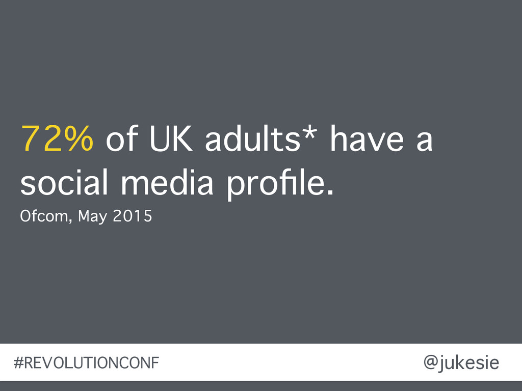 @jukesie 72% of UK adults* have a social media ...