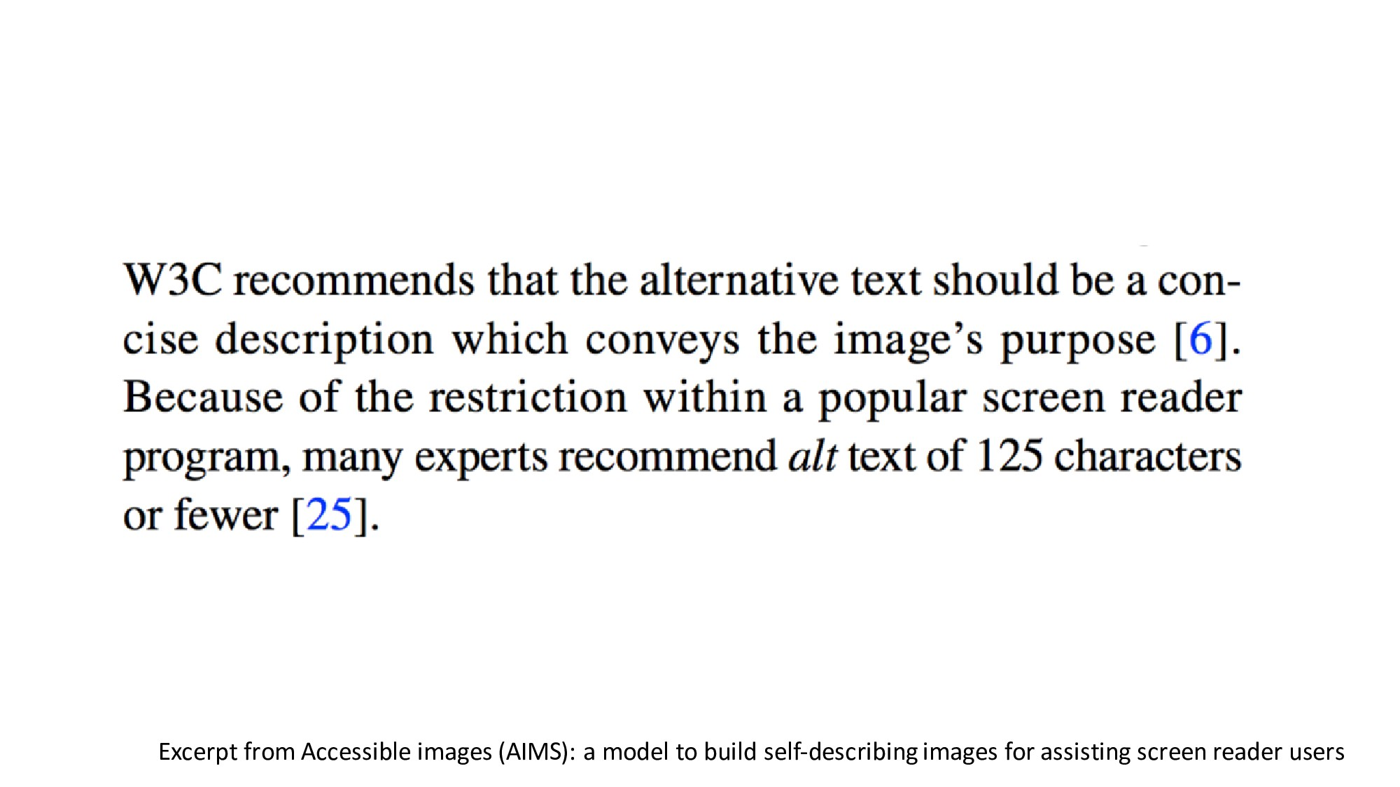 Excerpt from Accessible images (AIMS): a model ...