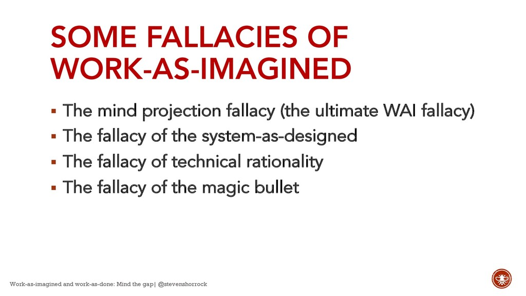 SOME FALLACIES OF WORK-AS-IMAGINED § The mind p...