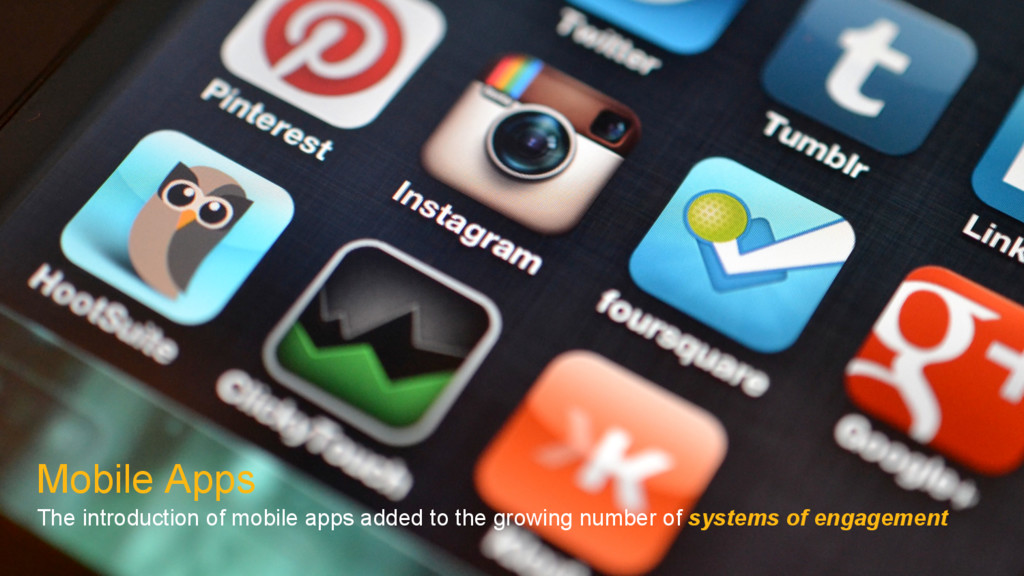 Mobile Apps The introduction of mobile apps add...