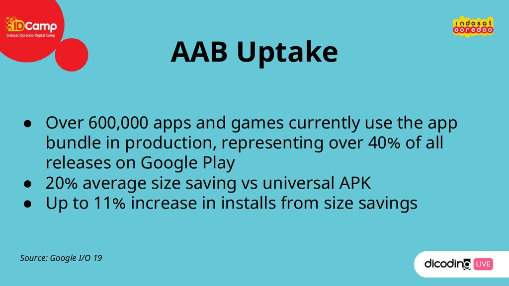 AAB Uptake ● Over 600,000 apps and games curren...