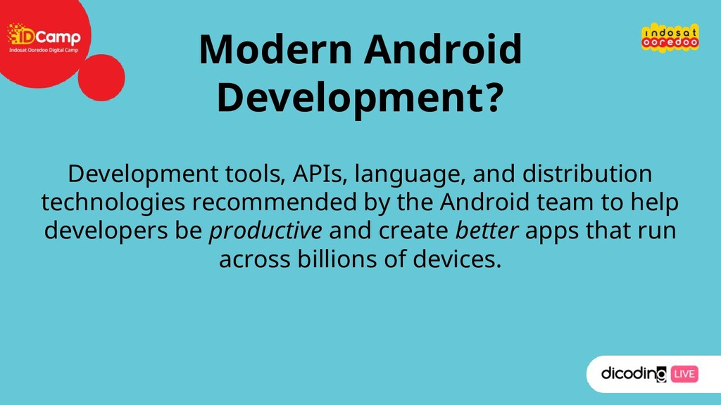 Modern Android Development? Development tools, ...