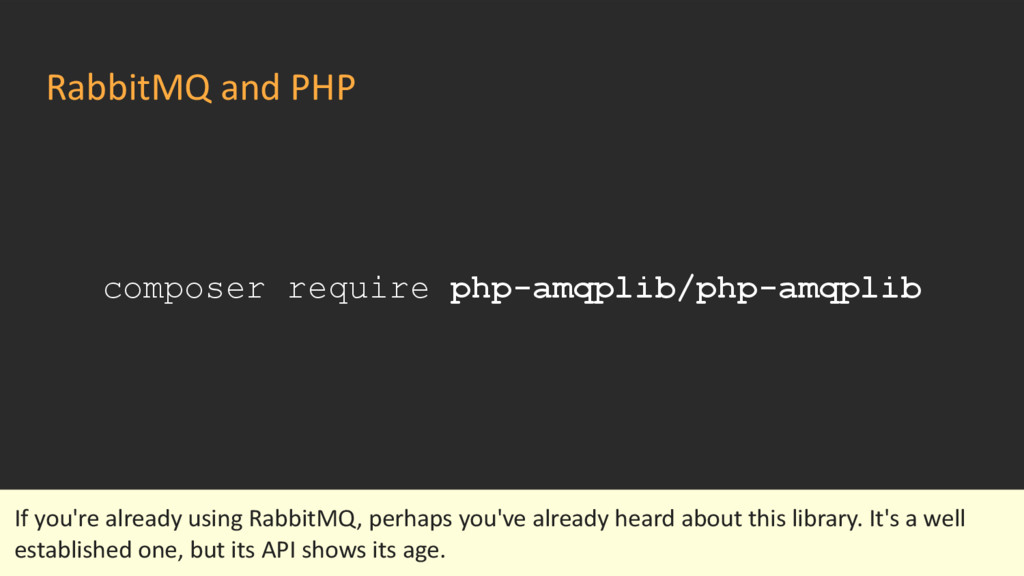 RabbitMQ and PHP composer require php-amqplib/p...