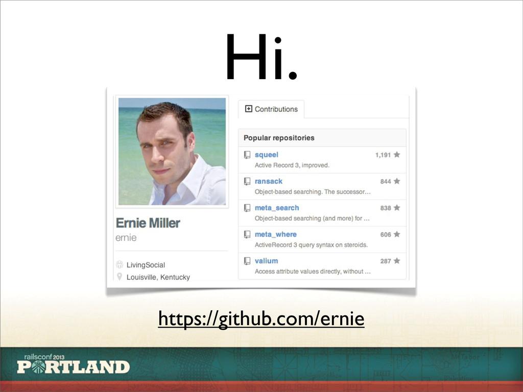 Hi. https://github.com/ernie