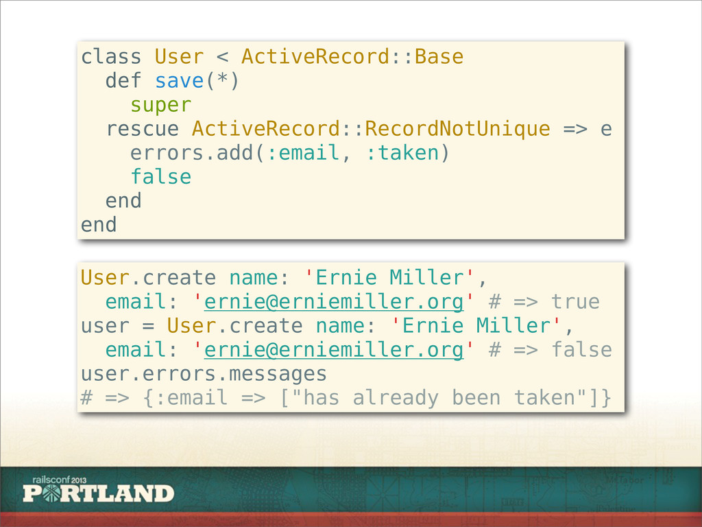class User < ActiveRecord::Base def save(*) sup...