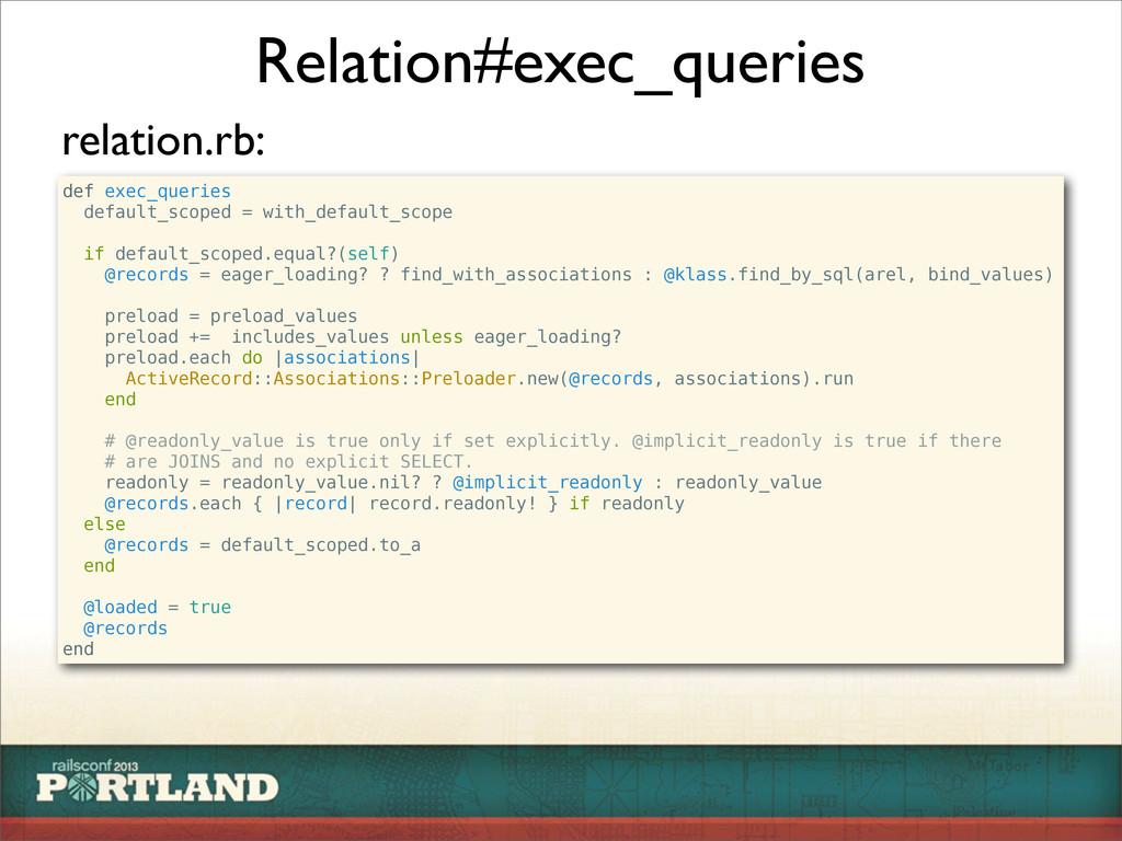Relation#exec_queries def exec_queries default_...