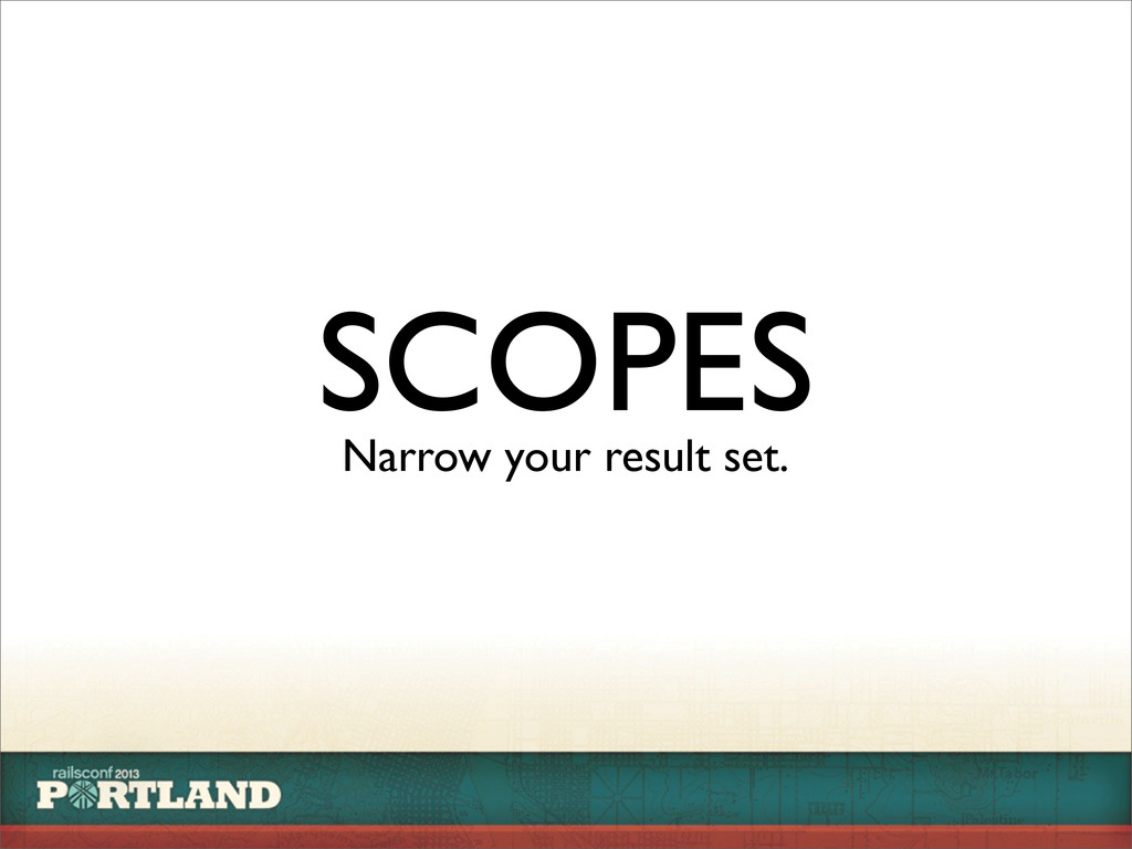 SCOPES Narrow your result set.