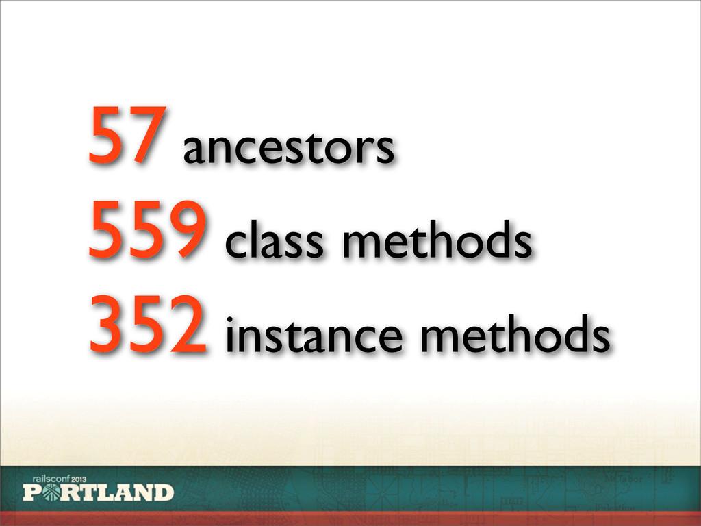 57 ancestors 559 class methods 352 instance met...