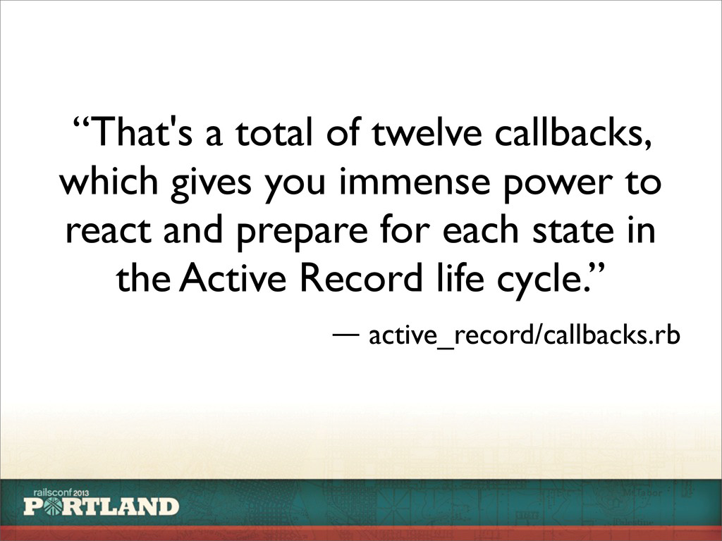 """That's a total of twelve callbacks, which give..."
