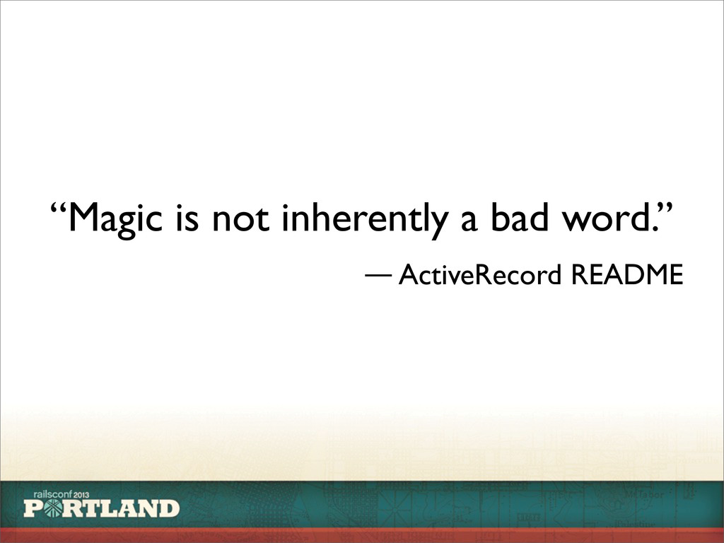 """Magic is not inherently a bad word."" ― ActiveR..."
