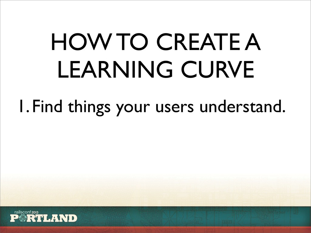 HOW TO CREATE A LEARNING CURVE 1.Find things yo...