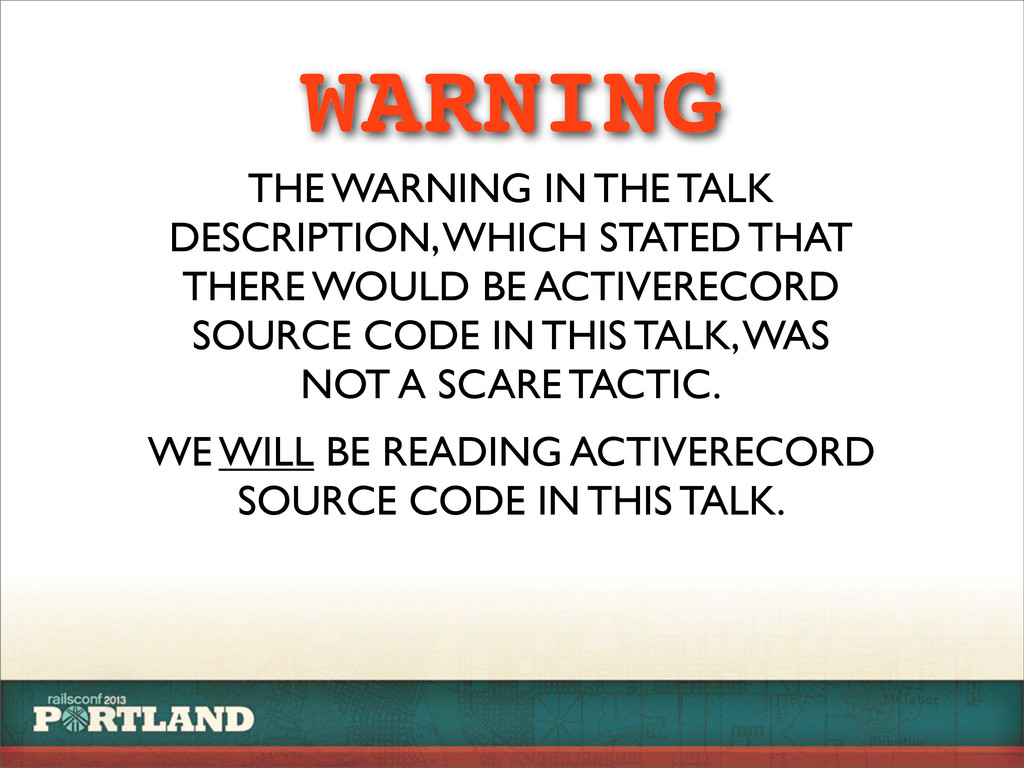 WARNING THE WARNING IN THE TALK DESCRIPTION, WH...