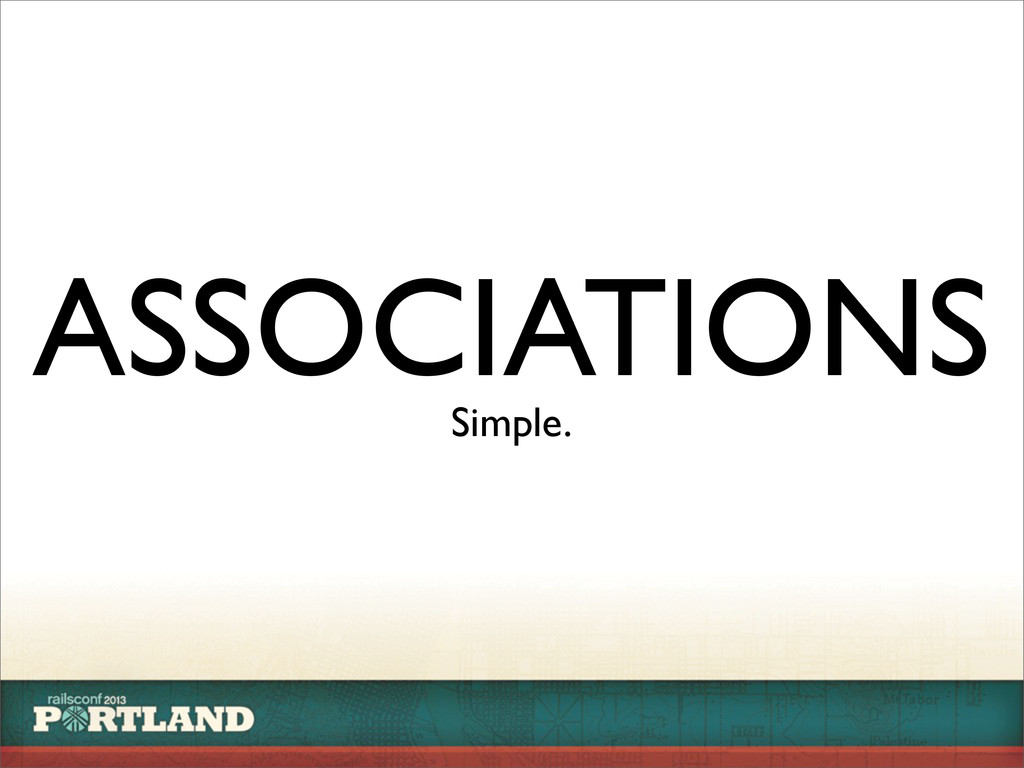ASSOCIATIONS Simple.