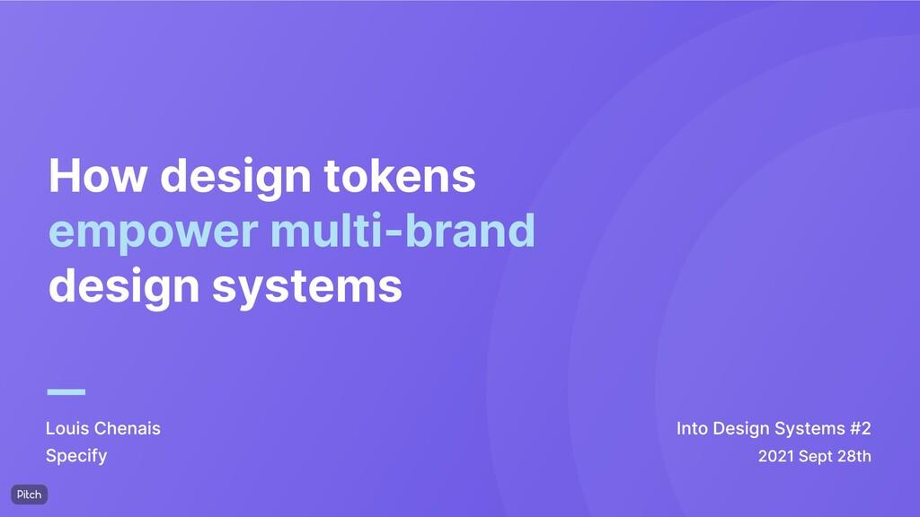 How design tokens empower multi-brand design sy...