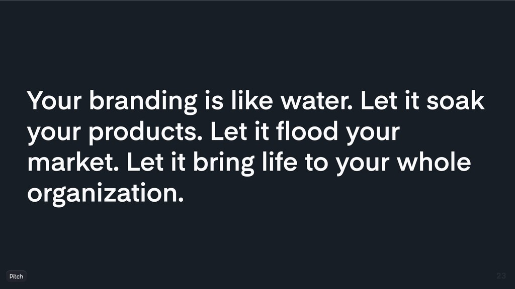 Your branding is like water. Let it soak your p...