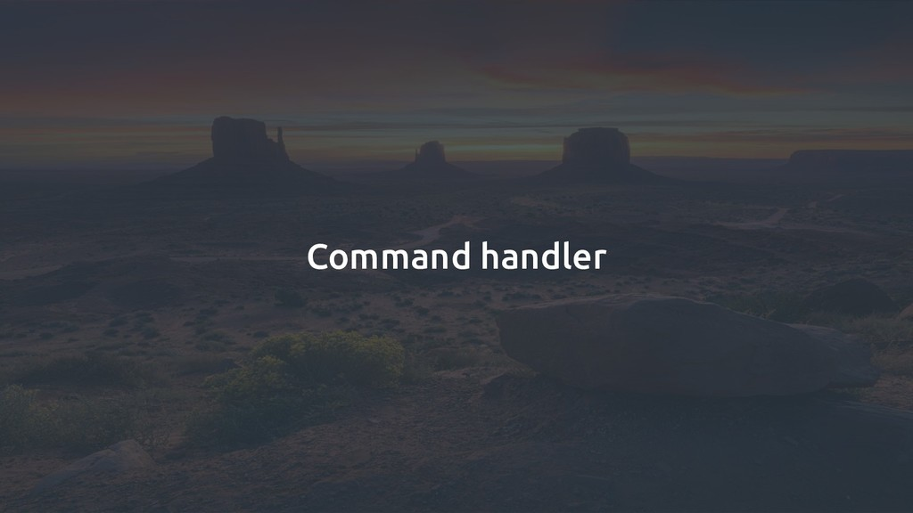 Command handler