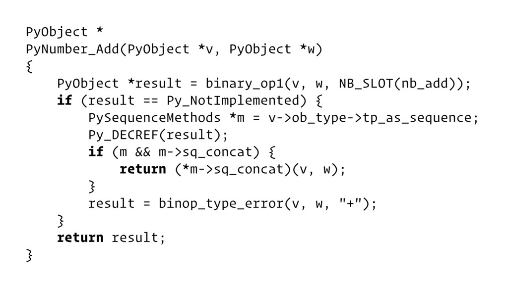 PyObject * PyNumber_Add(PyObject *v, PyObject *...