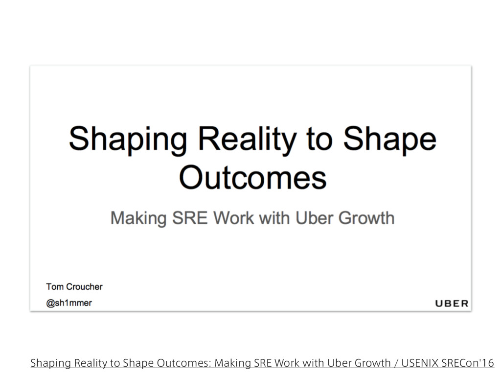 Shaping Reality to Shape Outcomes: Making SRE W...