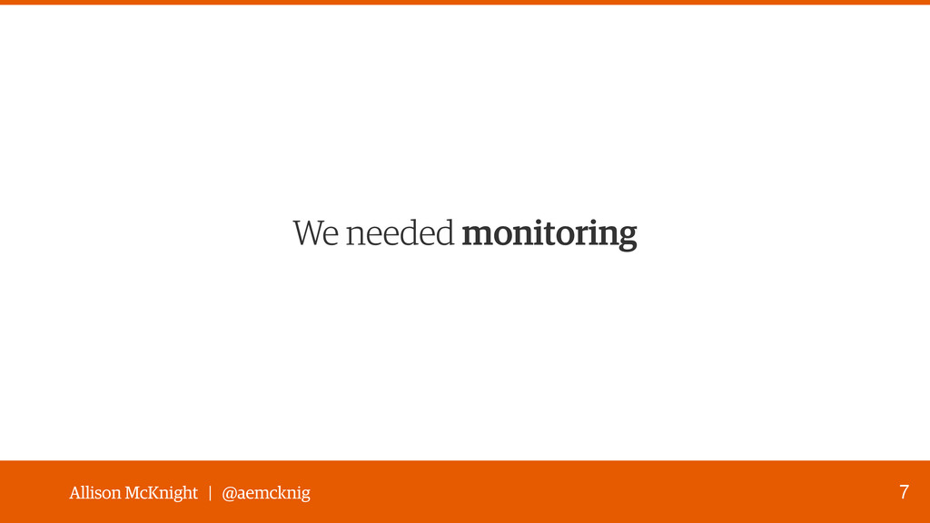 Allison McKnight | @aemcknig We needed monitori...