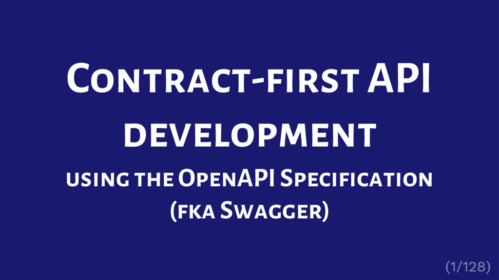 Contract-first API development using the OpenAP...