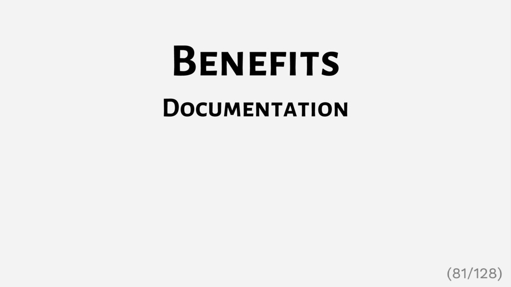 Benefits Documentation