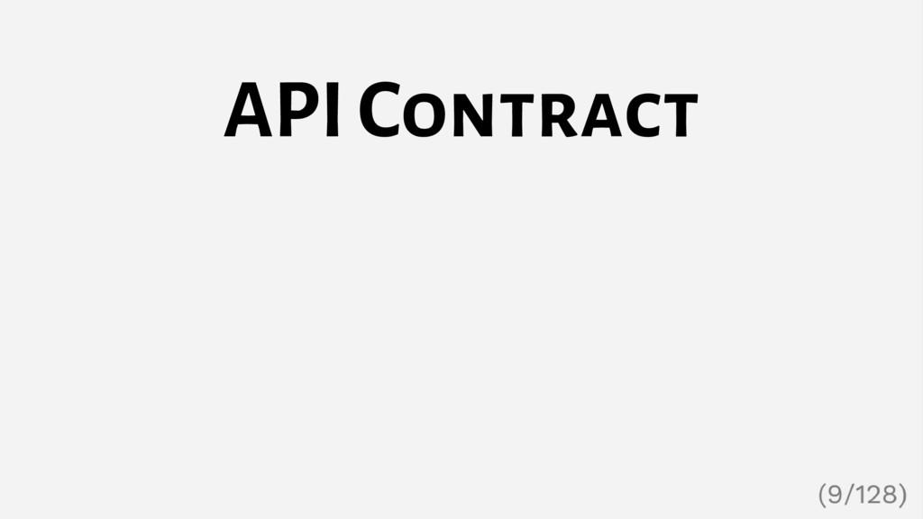 API Contract