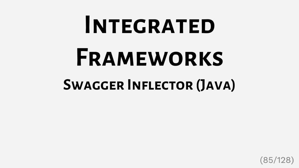 Integrated Frameworks Swagger Inflector (Java)